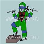 Выкройка основа для новогоднего карнавально - маскарадного костюма черепашка ниндзя на мальчика