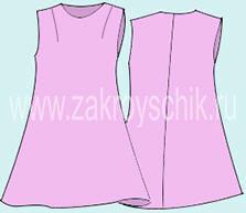 Выкройка платья на девочку дошкольного возраста