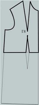 Лиф - верхняя часть чертежа выкройки