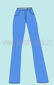 Выкройка осноы женских джинс