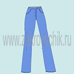 Выкройка основы женских джинс
